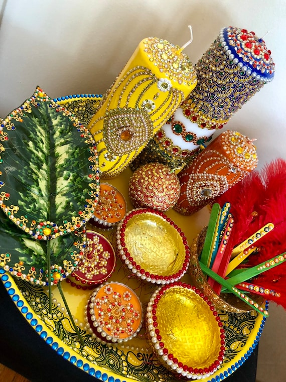 Mehndi/henna/haldi rasam thaal