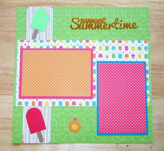 Summer Scrapbook Layout Summertime Scrapbook Page 12 X 12 Etsy