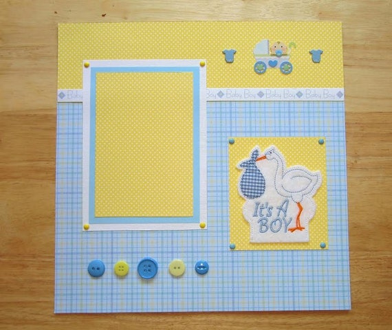 10 en bois Cigogne et bébé boutons à coudre Fabrication Carte Scrapbook Craft Embellissement