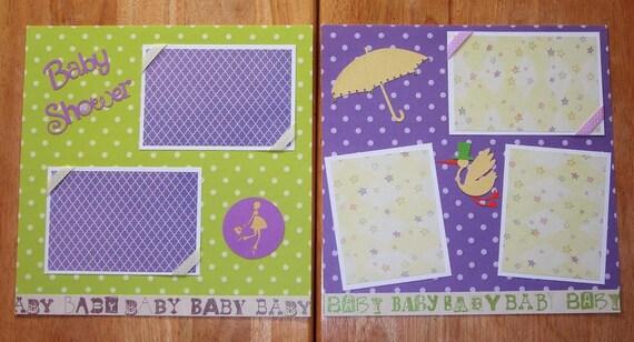Baby Shower Scrapbook Layout Baby Shower Scrapbook Page 12 Etsy