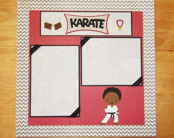 Karate Boy Scrapbook Page - Karate Boy Scrapbook Layout - 12 x 12 Scrapbook - Martial Arts - Tae Kwon Do - Karate Kid