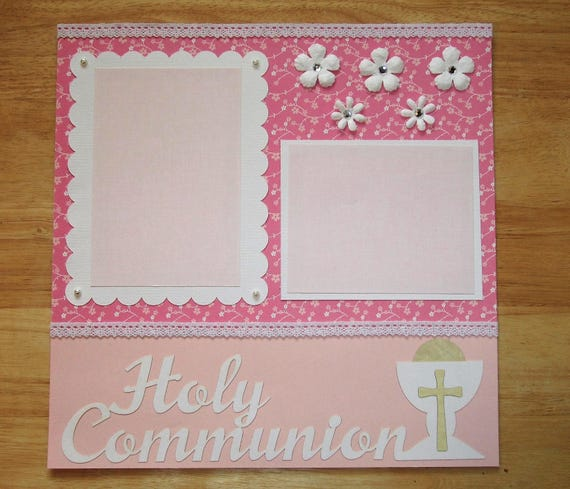 Holy Communion Scrapbook Page Holy Communion Scrapbook Etsy
