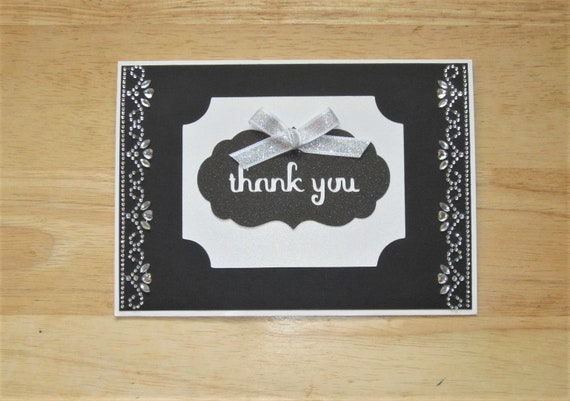 Thank You Card Homemade Thank You Card Thank You Gift Card Etsy