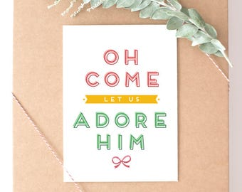 Oh Come Let Us Adore Him // Christmas Song // Christmas Card // Holiday Card // Holiday Song // Merry Christmas // The Busy Bee