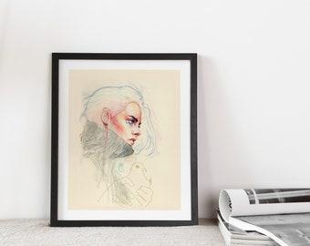 Kristen Stewart Art Print. Girl Power Art. Feminist Wall Art Poster
