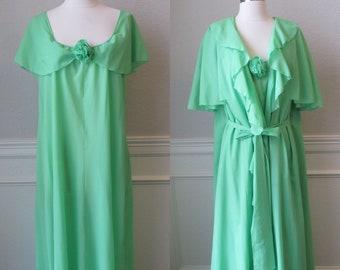 bc2fd48c7dc3 Green Lala Lingerie Peignoir