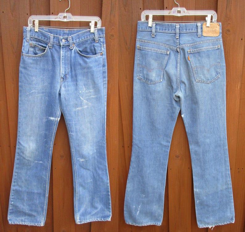 455be142 32x36 Vintage Levis 517 Jeans Mens Orange Tab Boot Cut | Etsy
