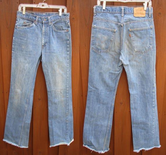 VTG LEVI'S 517 Orange Tab Bootcut Jeans Denim Mens Tag 40 X