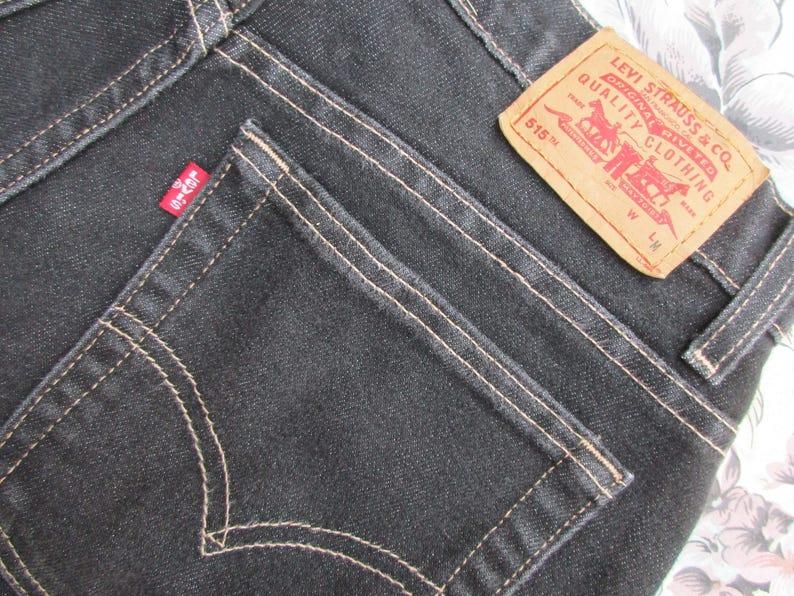 df13c809889 Sz 8 Levis 515 Jeans Womens Red Tab Black w/ Contrasting | Etsy