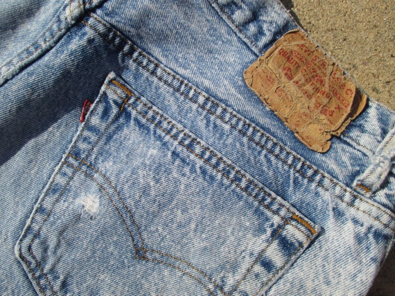 50dc628d 36W Levis 501 Shorts Acid Washed Button Fly Distressed and | Etsy