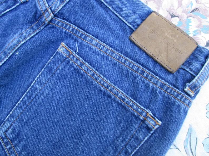 510d912c 31W Sz 7/8 Vintage Calvin Klein Straight Leg Dark Wash Jeans | Etsy