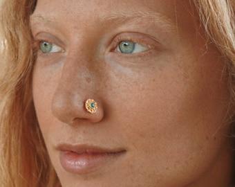Indian Nose Stud Sterling Silver Nose Stud Crystal Nose Stud Diamond Nose Stud Nose Stud Tinny Nose Stud Twist Nose Stud Christmas Day Sale