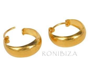 22K Gold filled Hoop Earrings 10mm
