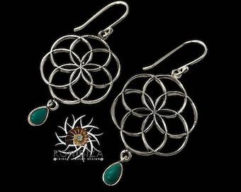 Silver Earrings - Tribal Earrings - Indian Earrings - Gypsy Earrings - Ethnic Earrings - Statement Earrings - Long Earrings (ES36)