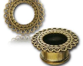 Ear Tunnel Ear Gauges Ear Plugs BT9 Brass Tunnel Gauge Jewelry Tribal Plugs Brass Plugs Piercing Plugs Indian Plugs