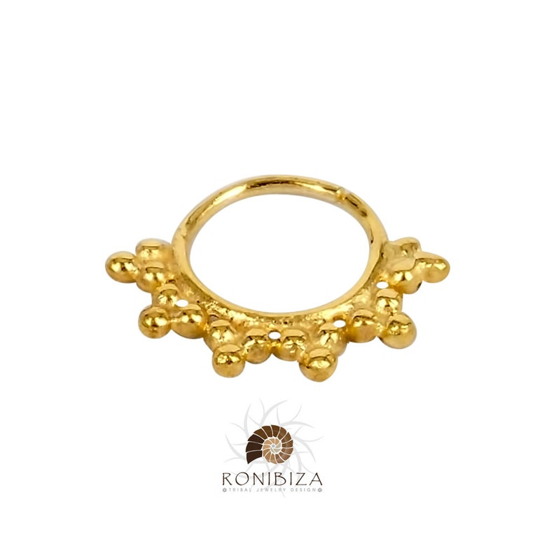 Septum Clicker -G5 Septum Piercing Indian Septum Ring 18G Septum Ring Akash Gold Septum Ring Tribal Septum Ring Septum Jewelry