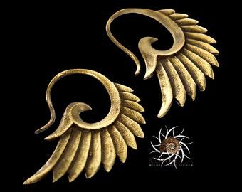 Brass Earrings - Tribal Earrings - Indian Earrings - Gypsy Earrings - Ethnic Earrings - Statement Earrings - Long Earrings (EB32)