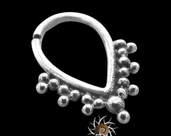 Tribal Septum Ring - Indian Septum Ring - Silver Septum - Septum Piercing - 16G Septum Ring - Septum Jewelry - Sterling Silver Septum (S11)