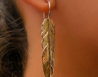 Brass Earrings - Tribal Earrings - Indian Earrings - Gypsy Earrings - Ethnic Earrings - Statement Earrings - Long Earrings