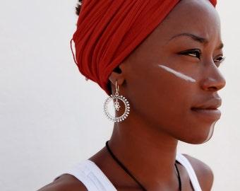 Silver Earrings - Tribal Earrings - Indian Earrings - Gypsy Earrings - Ethnic Earrings - Statement Earrings - Long Earrings (ES64)