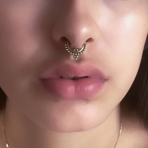 Anik Brass Septum Ring Septum Jewelry Septum Piercing Etsy