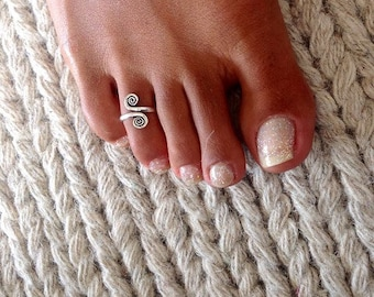 Toe Ring - Silver Toe Ring - Adjusable Toe Ring - Foot Accessories - Foot Ring - Foot Jewelry - Beach Jewelry - Summer Jewelry - Tribal T22