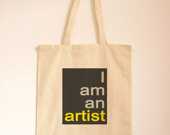 Art Present/ Art Gift/ Cotton Bag/ Quote Tote/ Typography/ Gift Bag/ Artist Eqiupment/ Art Holdall