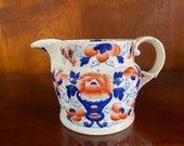 Antique Gaudy Welsh Ceramic Jug Pitcher