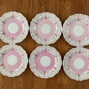 Takito Hand Painted Lusterware Dessert Plates Set of 2 Circa 1960s