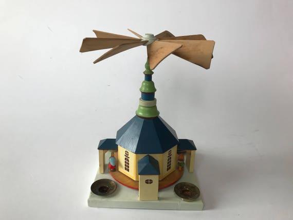 Vintage East German Erzgebirge Expertic Christmas School Yard Pyramid