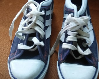 denim Sneakers deadstock vintage mens 5 womens 7 shoes new old 1970 s trax  not converse wear jeans pants shorts T shirts dress jacket coat 6a2076529