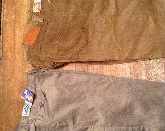 b96ab3f0 Wrangler vintage deadstock crushed velvet corduroy straight leg jeans made  USA 1980 new old pick 1 34x32 30x38 42x30 42x32