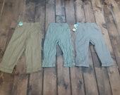J 39 nettes by anvil Vintage deadstock nos cotton sanforized slim capri jean 1950 women 24.5 waist pant made USA hi rise cuffed pick 1