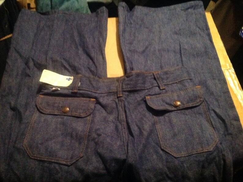 2c3da892 Cherokee Deadstock 1970 vintage bellbottom cotton pants USA | Etsy