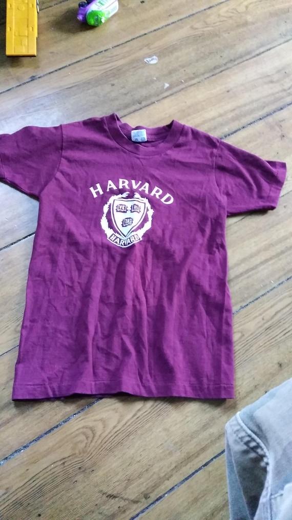 harvard 1970's champion vintage t shirt boys 10 1… - image 1