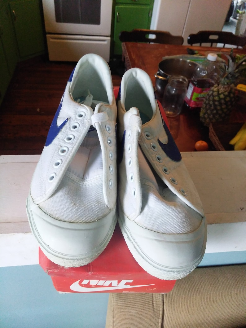 1983 Nike Vintage Deadstock Sneaker Schuh niedrigen oben kurz Leinwand Basketball nicht unterhalten wählen Sie Größe Männer Frauen tragen t Shirt