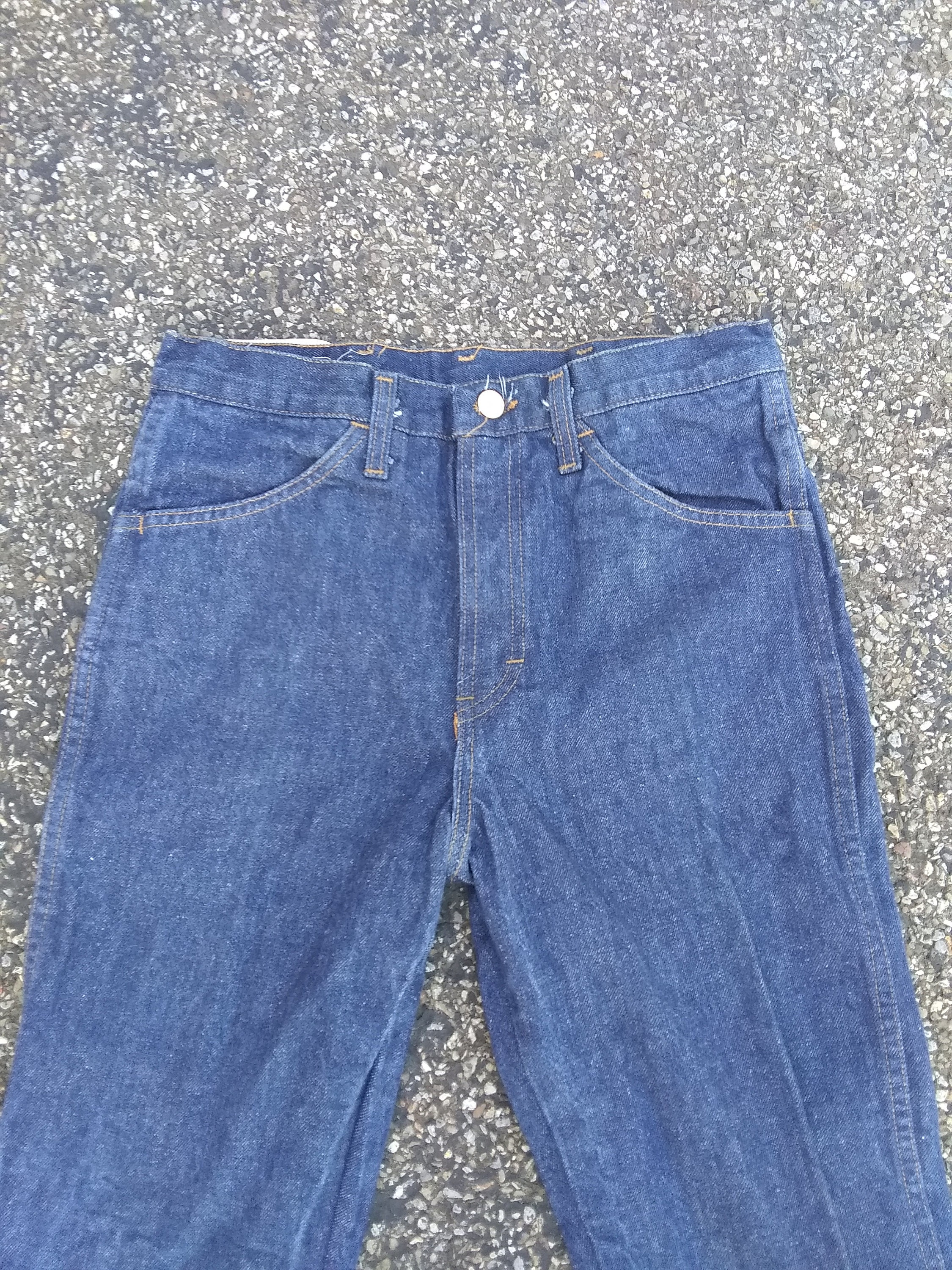 Vintage denim straight straight straight leg jeans dark prewash jeans deadstock usa nuevo old 100 cotton  hombres  pick 1 1970 talon 42 wear t shirt shoe  botas  pants 5ea3ae