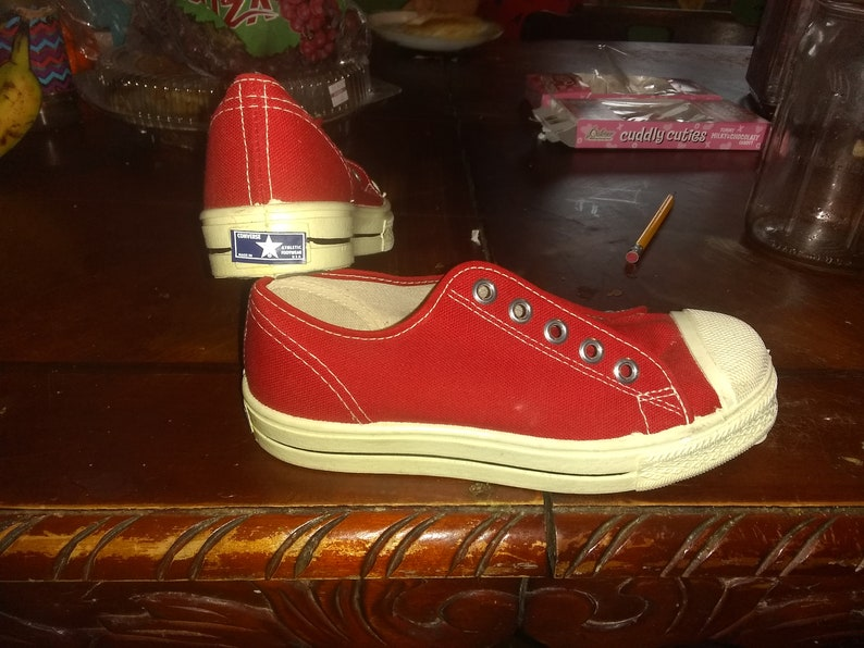 Converse canvas vintage deadstock sneakers shoes 1960s low top basketball  made u... Converse canvas vintage deadstock sneakers shoes 1960s low top ... 317db3908