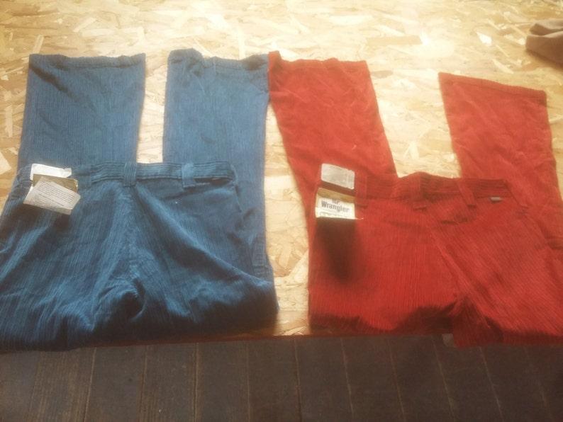 0a8e6ffc Wrangler cotton corduroy button fly vintage deadstock flare | Etsy