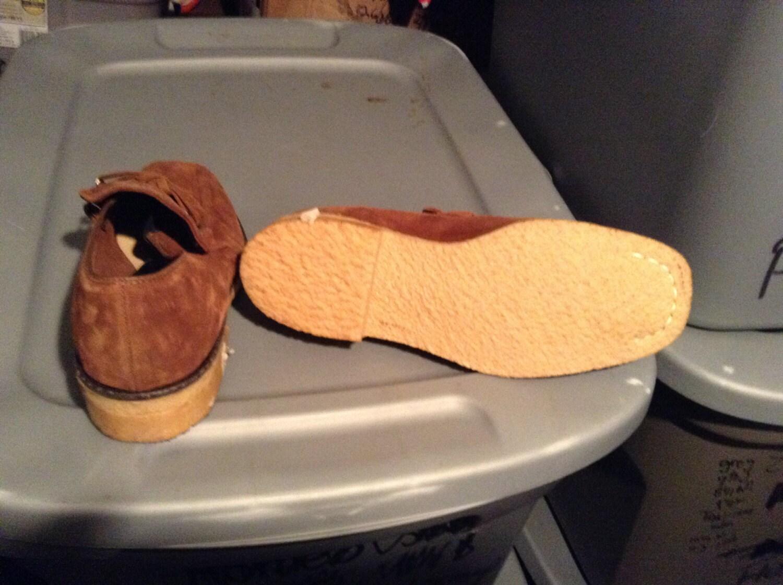 Material vintage cachorro hush zapatos mocasines  hombres    de hecho USA  hombres  suela crepe de 7 m no zapatillas t camisa jeans pantalones capa chaqueta  botas  gamuza 90eea9