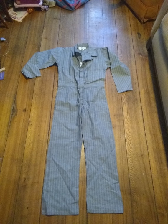 Vintage deadstock work coverall cotton mechanic pa
