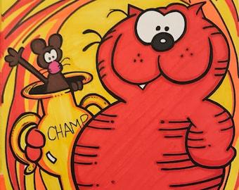 Heathcliff Marker Print ~ 7 in x 11 in