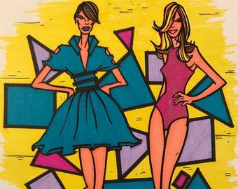 Fashion Models Marker Print ~ 9 in x 12 in