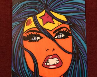 Wonder Woman Marker Print ~ 7 in x 11 in