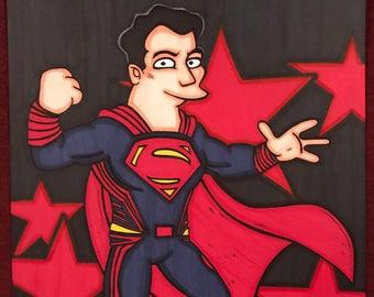 Superman Marker Print ~ 9 in x 12 in
