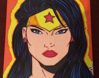Wonder Woman Marker Print ~ 10 in x 13 in