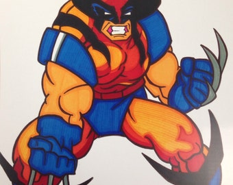 Wolverine Comic Style Marker Print 9 x 12 in