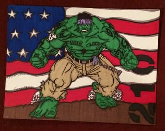 Hulk Marker Print - 9 x 12 in
