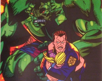 Hulk Comic Style Marker Print 11 x 14 in
