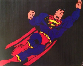 Superman Comic Style Marker Print 9 x 12 in